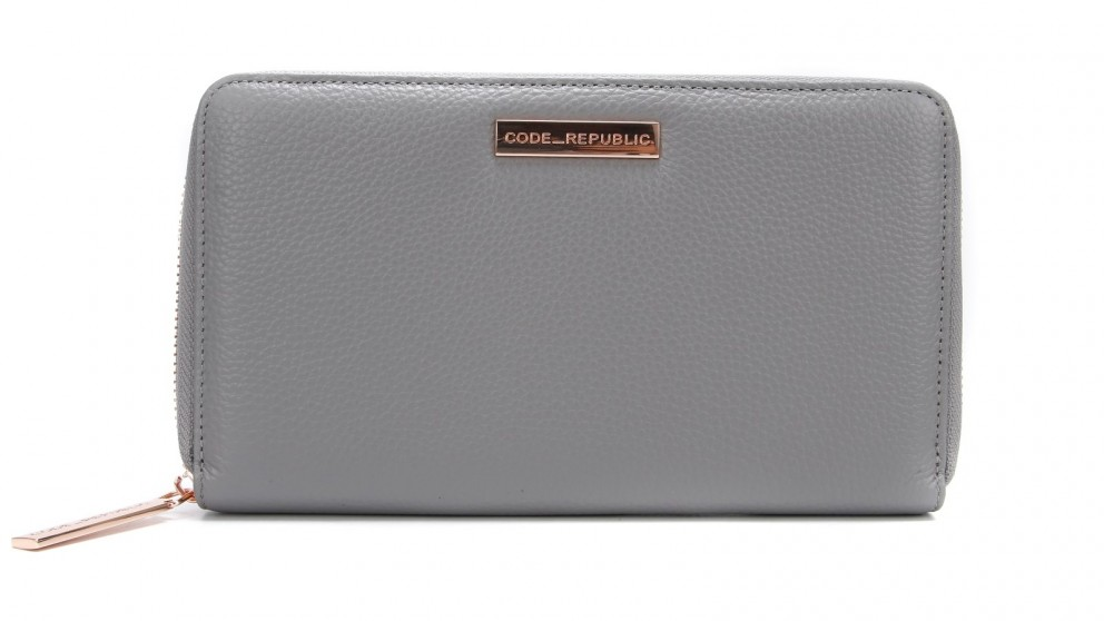 d3e3307de Buy Code Republic Pebble Leather Passport   Phone Wallet - Grey ...