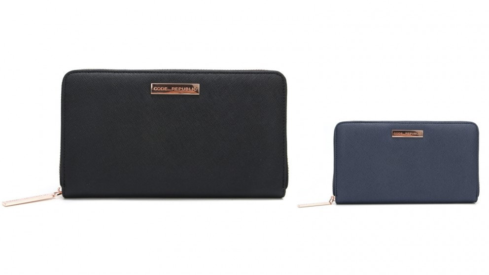 Code Republic Saffiano Leather Passport & Phone Wallet