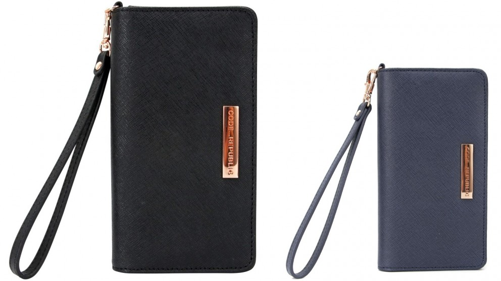 Code Republic Saffiano Leather Universal Phone Wallet