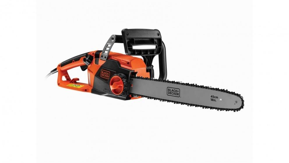 Black+Decker 450mm 2200W Corded Chainsaw - Orange