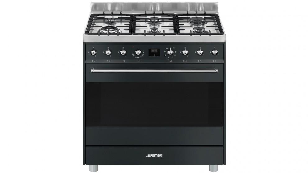 Smeg 900mm Freestanding Cooker - Matte Black