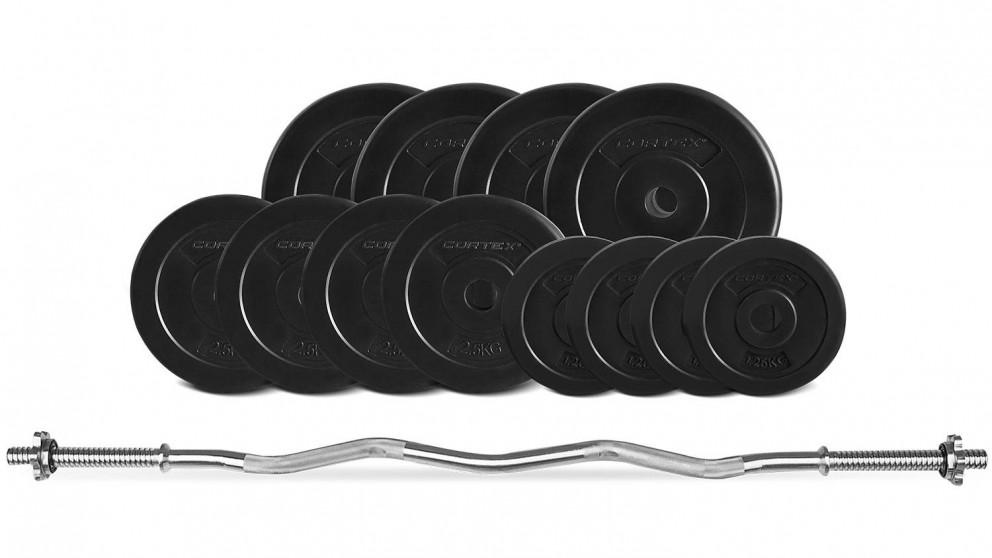 Cortex EnduraShell CurlBar Weights - 40kg