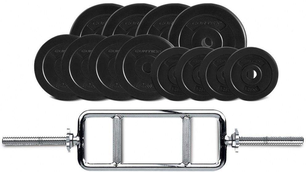 Cortex EnduraShell Tri Bar Weights - 40kg
