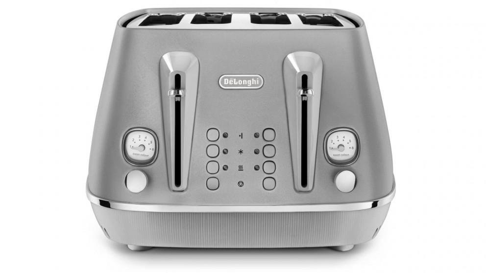DeLonghi Distinta Perla 4-Slice Toaster - Silver