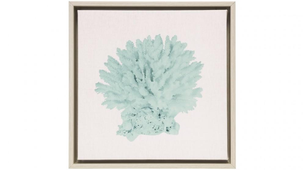 Splosh Coastal Coral 34x34 Framed Canvas