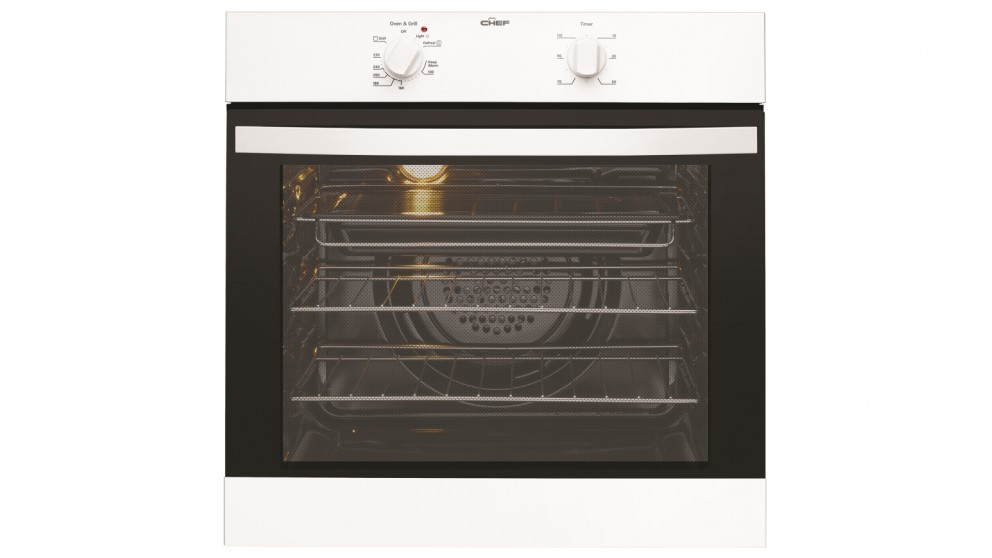 Chef 60cm Electric Oven with 120 Minute Timer - White