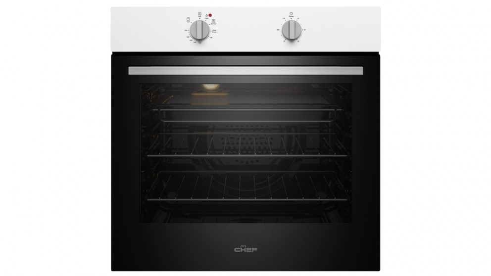 Chef 600mm Multifunction 3 Fan Forced Oven with 10A Plug & Play - White