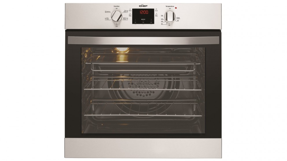 Chef 60cm Multifunction Electric Oven with Programmable Timer - Stainless Steel