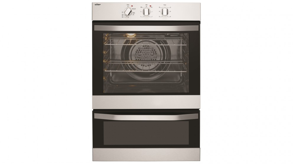 Chef 600mm Fan Forced Oven with Separate Grill - Stainless Steel