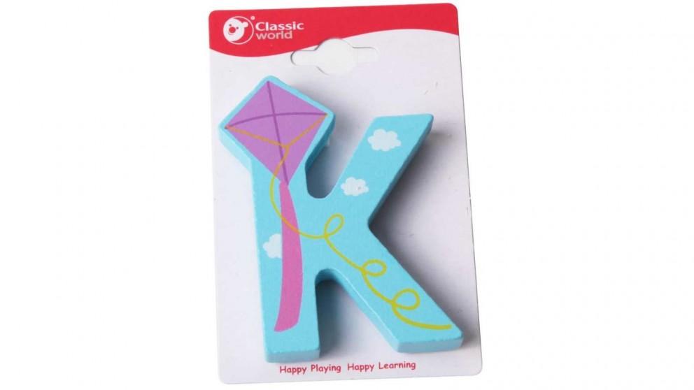 Classic World Alphabet Letter - K