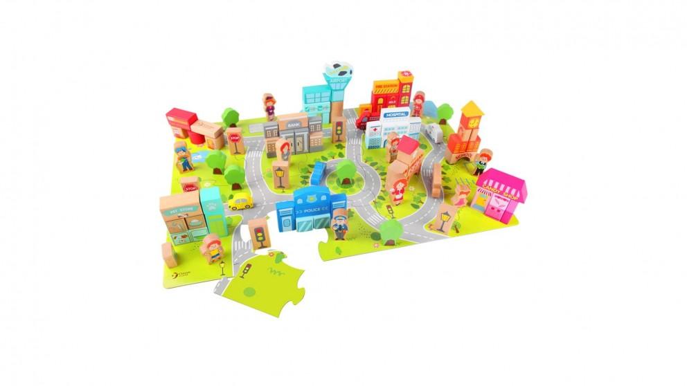 Classic World Puzzle Blocks: City Scene Block Set