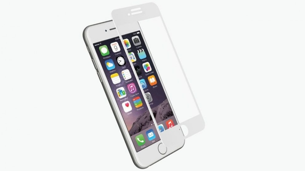 Cygnett RealCurve Tempered Glass Screen Protector for iPhone 7 - White