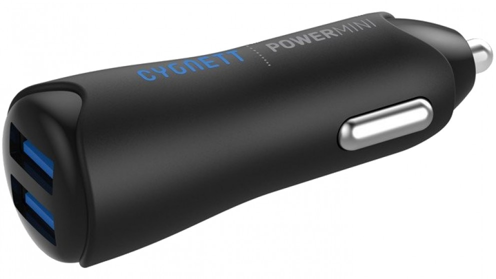 Cygnett Power Mini 4.8 Dual USB Car Charger - Black
