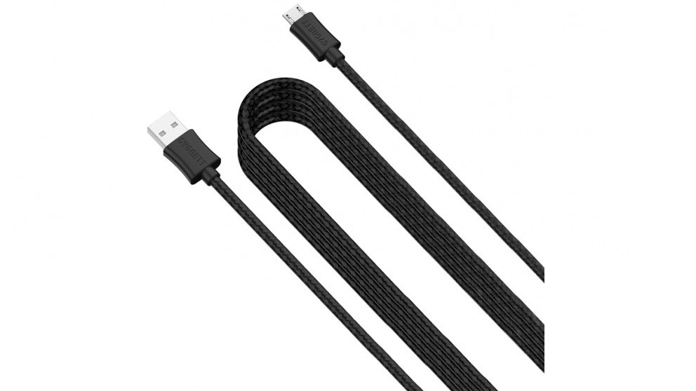 Cygnett 4m USB to Micro USB Braided Cable - Black