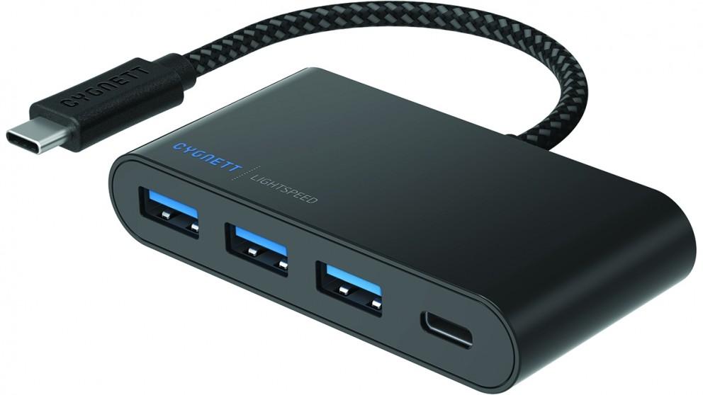 Cygnett LightSpeed USB-C to 3x USB-A & USB-C Hub