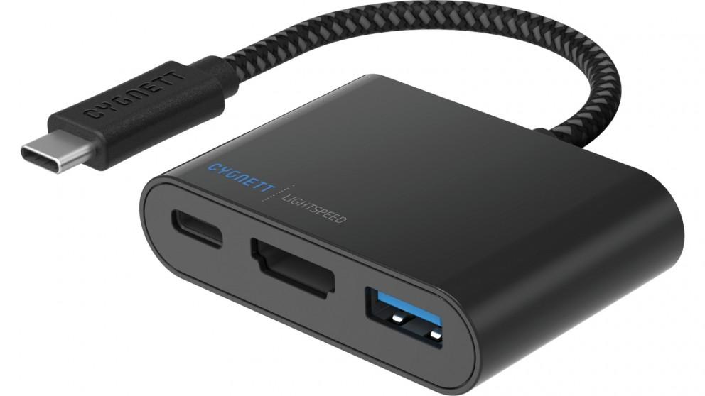 Cygnett LightSpeed USB-C to USB-A/HDMI/USB-C Hub