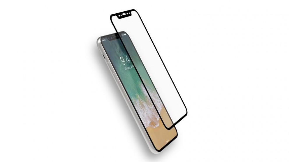 Cygnett Realcurve 3D 9H Tempered Glass Screen Protector for iPhone X