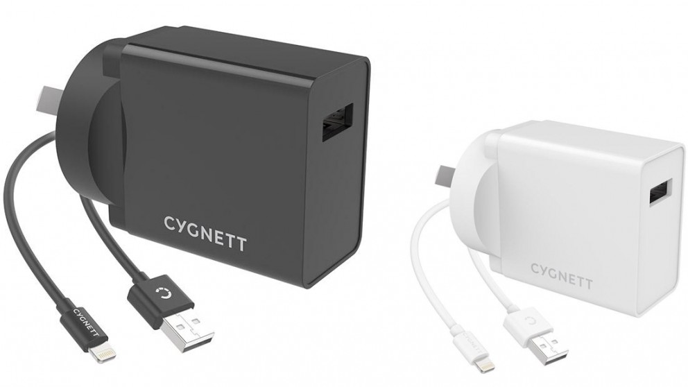 Cygnett PowerPlus 12W Wall Charger + Lightning to USB-A Cable