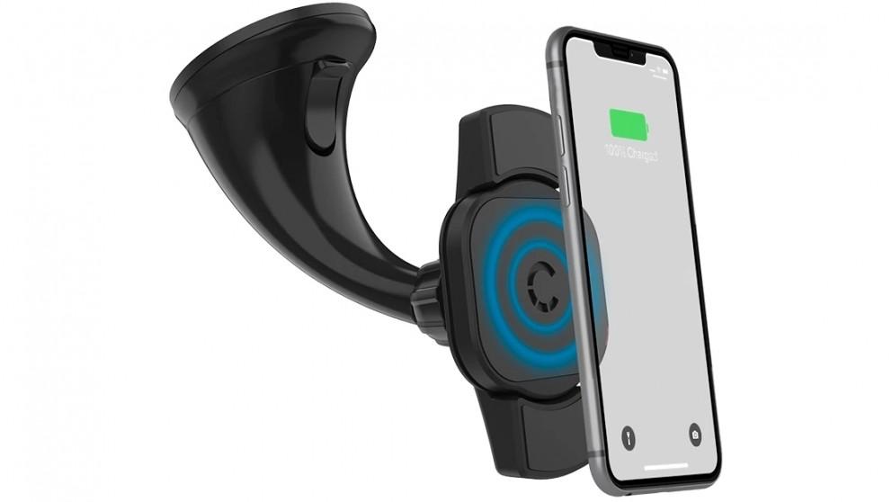 Cygnett RacePro 10W Wireless 2-in-1 Smartphone Car Charger with Window Mount