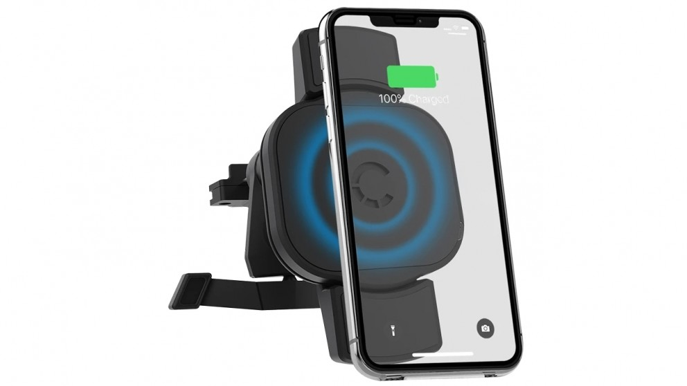 Cygnett RacePro 10W Wireless 2-in-1 Smartphone Car Charger with Vent Mount