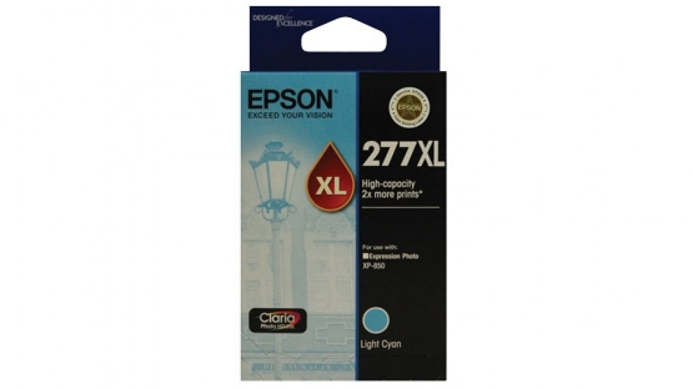 Epson 277XL High Capacity Claria Photo HD Ink Cartridge - Light Cyan