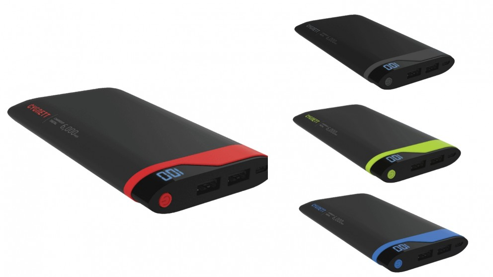 Cygnett ChargeUp Digital 6000 Power Bank | Tuggl