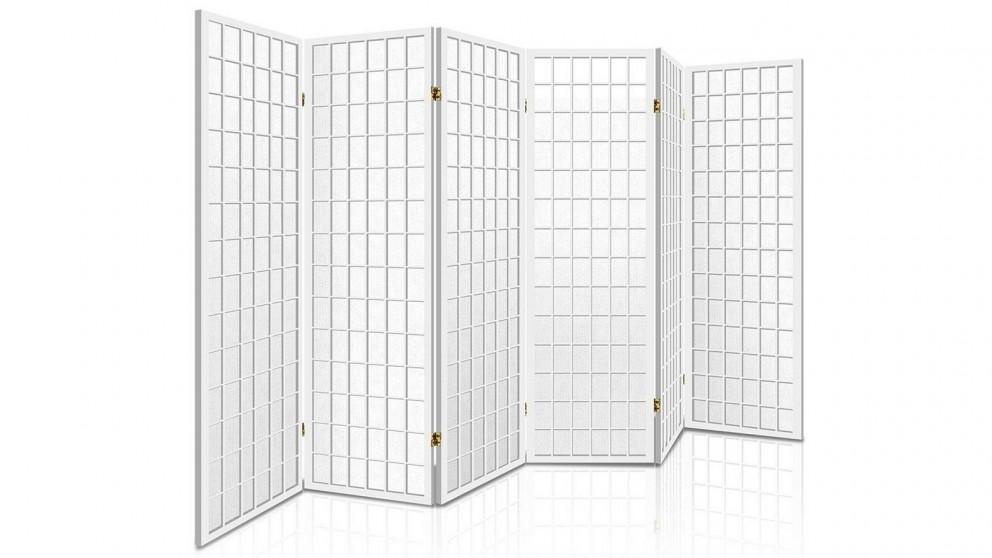 Artiss 6 Panel Wooden Room Divider - White
