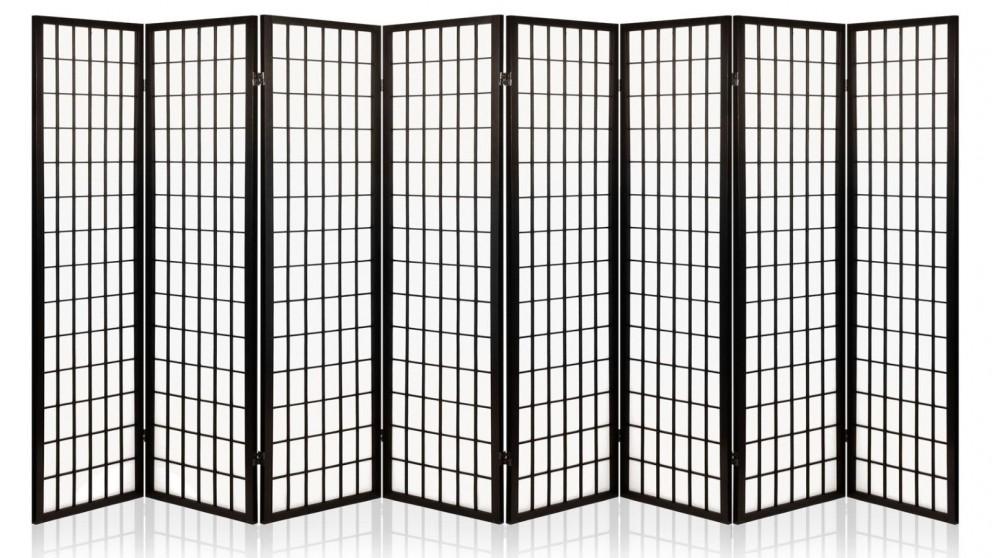 Artiss 8 Panel Room Divider Vintage - Black