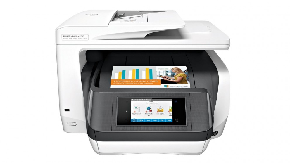 buy hp officejet pro 8730 all in one printer harvey norman au. Black Bedroom Furniture Sets. Home Design Ideas