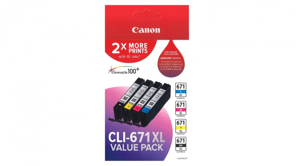 Canon CLI-671XL Value Pack Ink Cartridge