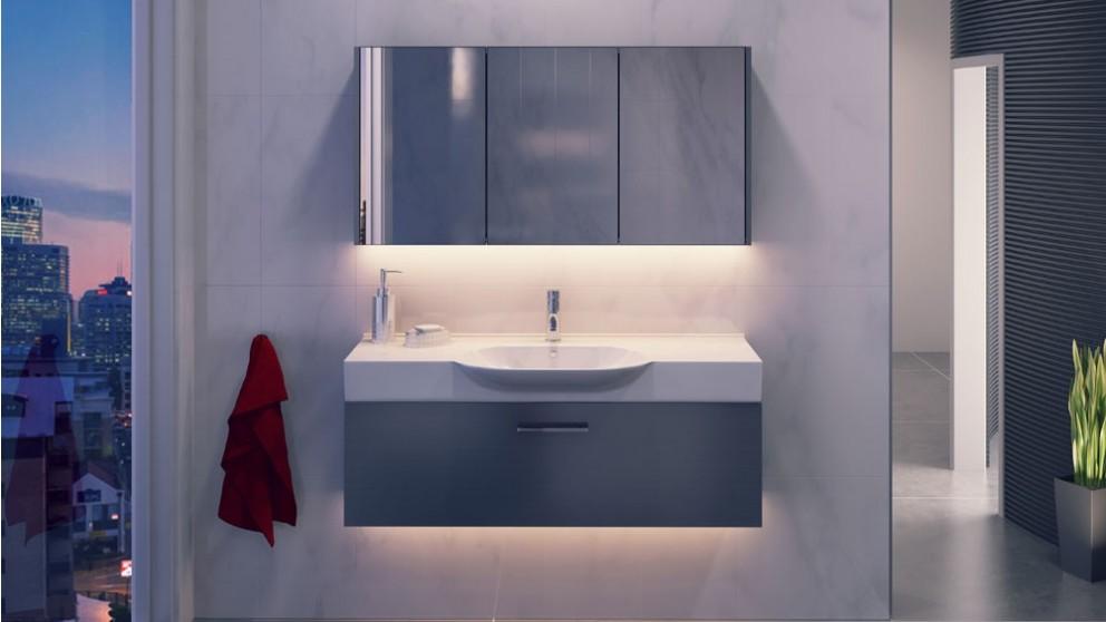 Vanity Bathroom Harvey Norman timberline dallas 850mm wall hung vanity - bathroom vanities