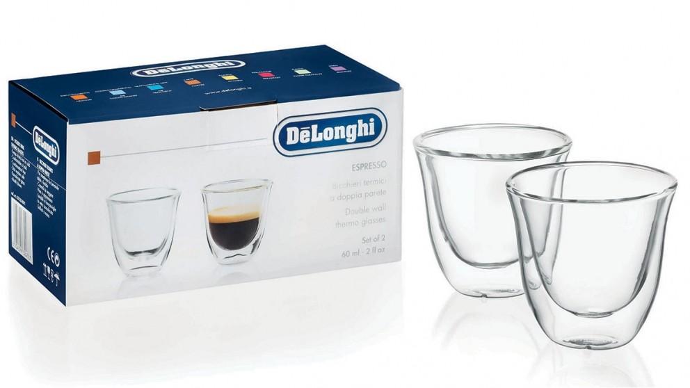 DeLonghi Set of 2 Espresso Glasses