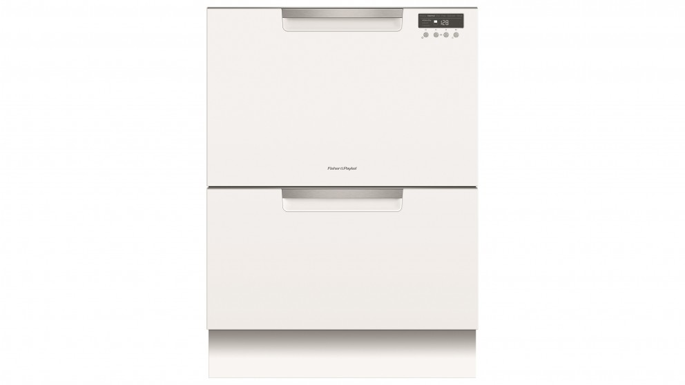 Fisher&Paykel Double Dishdrawer incl Sanitise, ExtraDry & full flex racking - White