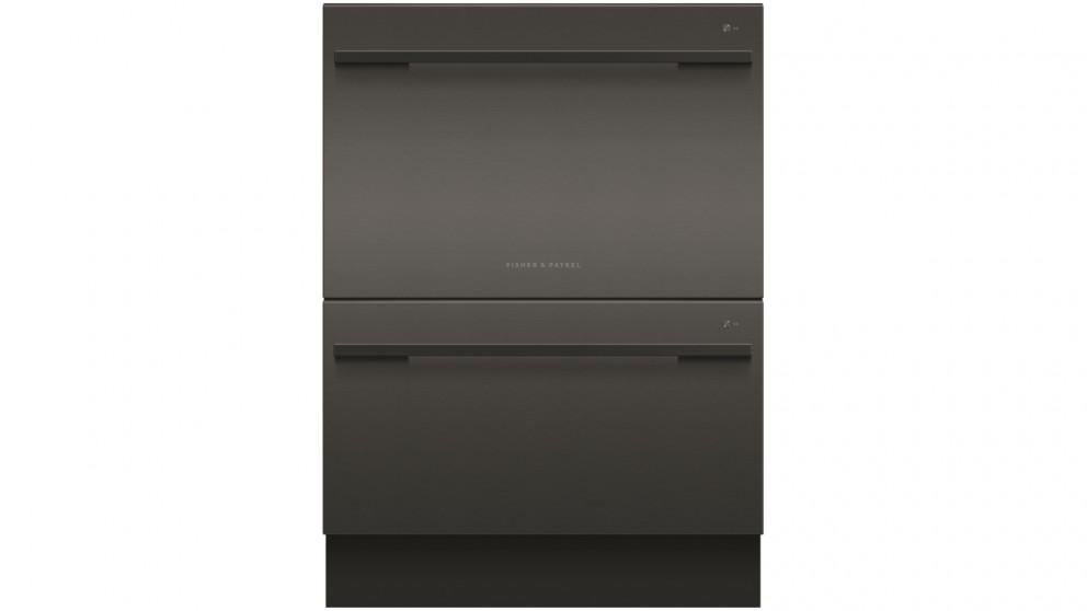 Fisher & Paykel 14 Place Setting Double Dishdrawer Dishwasher - Black