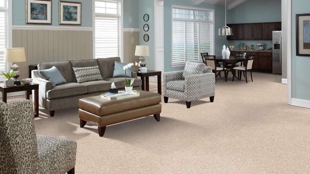 SmartStrand Forever Clean Delightful Charm - Cuban Sand Carpet Flooring