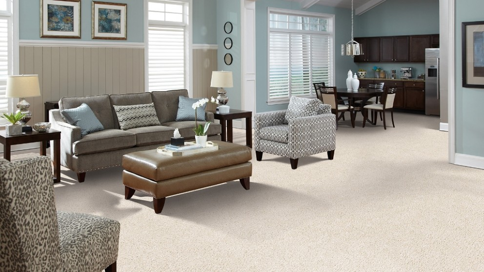 SmartStrand Forever Clean Delightful Charm - Pearlize Carpet Flooring