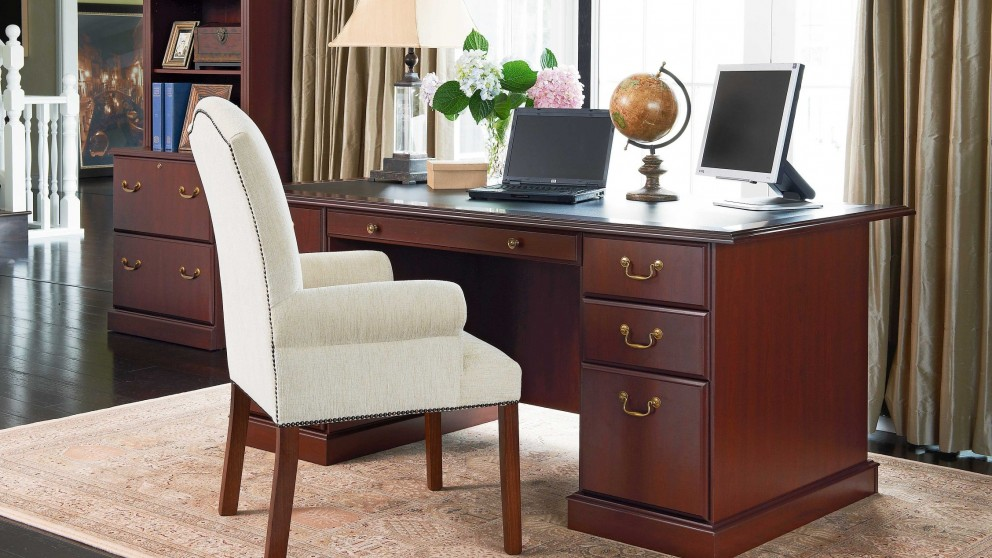 Executive desk executive desk l shape pursuit executive for Outdoor furniture harvey norman