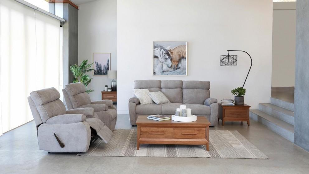 Dexter 3 Piece Fabric Recliner Lounge Suite