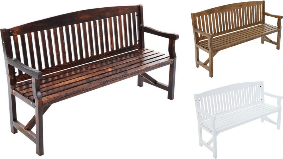 Gardeon 3 Seater Wooden Garden Bench Chair