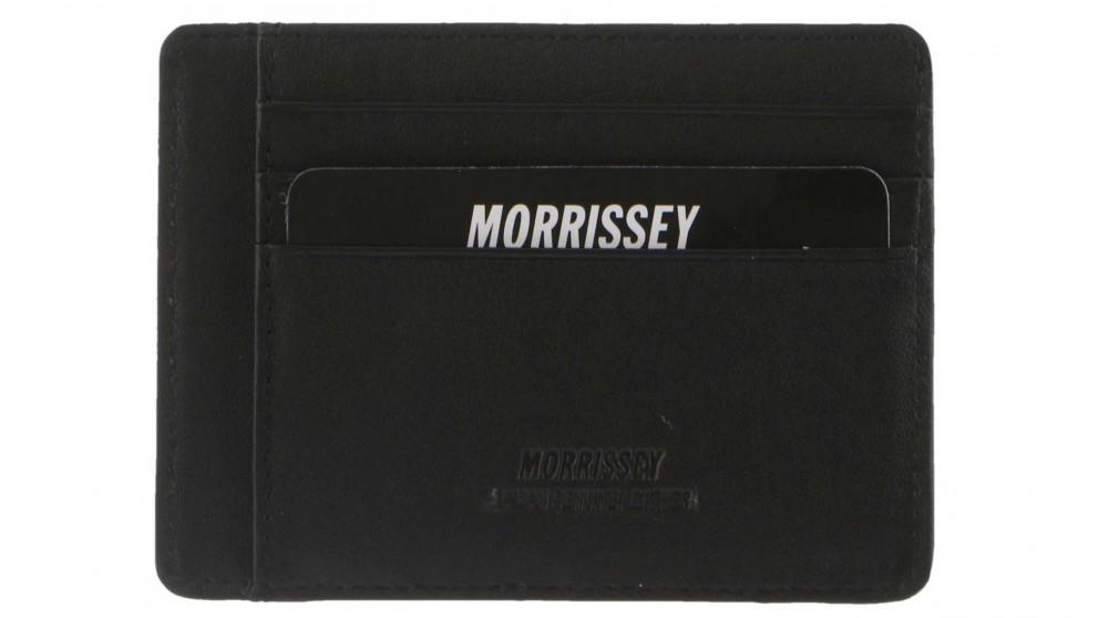 Morrisey Italian Leather Classic Mens Credit Card Holder - Black