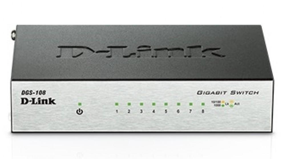 D-Link 8 Port Gigabit Desktop Switch Metal Housing
