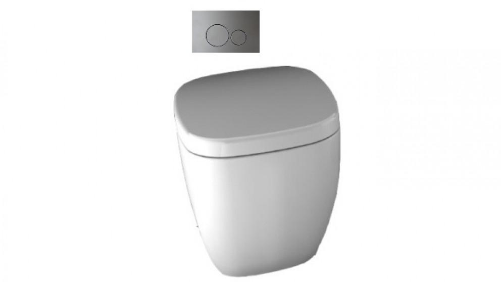 Parisi Dial Wall Faced Pan with In-Wall Cistern and Tondo Flush Plate