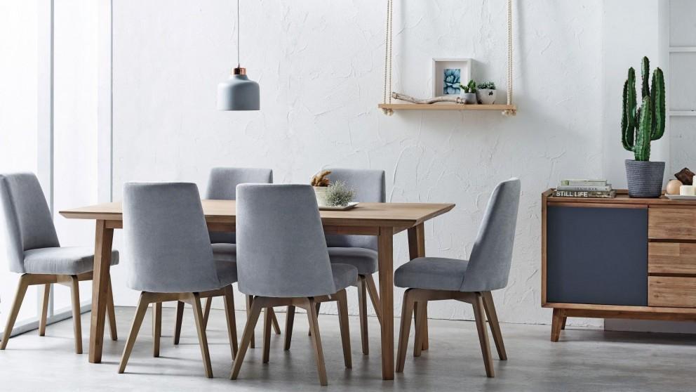 Charming Tempo 7 Piece Rectangular Dining Suite