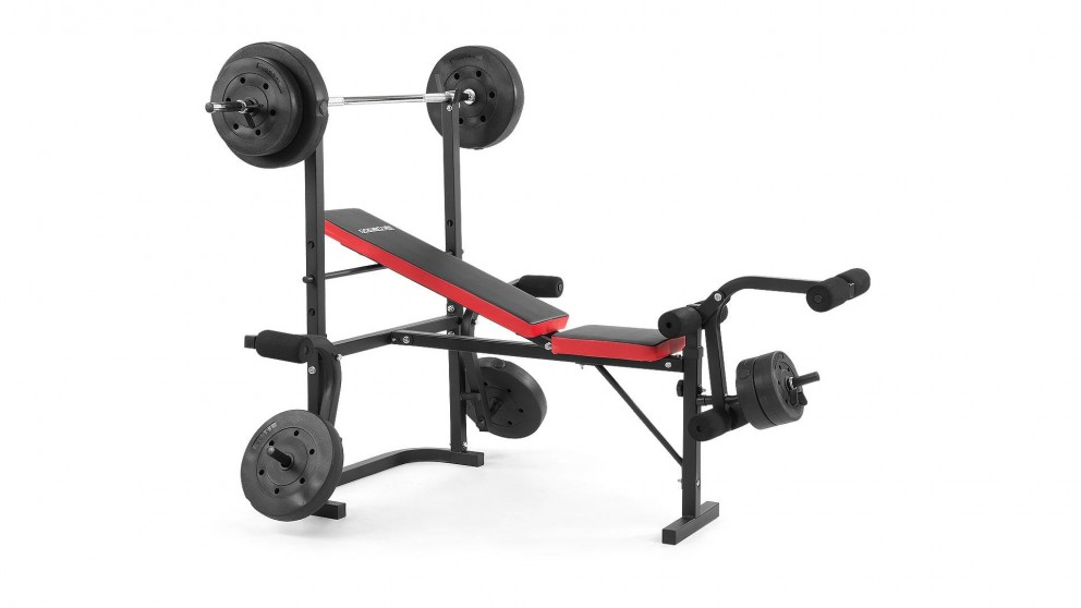 Powertrain Home Gym Press with 67kg Weights