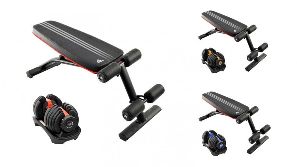 PowerTrain 1x 24Kg Dumbbell with 10230 Bench