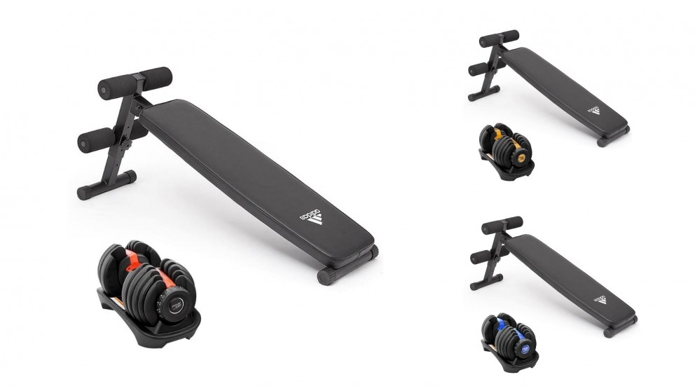 PowerTrain 1x 24Kg Dumbbell with 10433 Bench