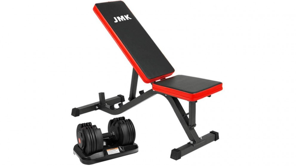 PowerTrain 1x 20kg BF4 Dumbbell with ZYDB Bench