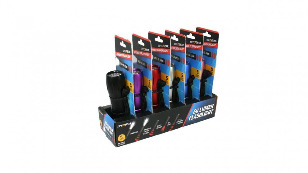 Lifegear Mini Torch Retail 6PK