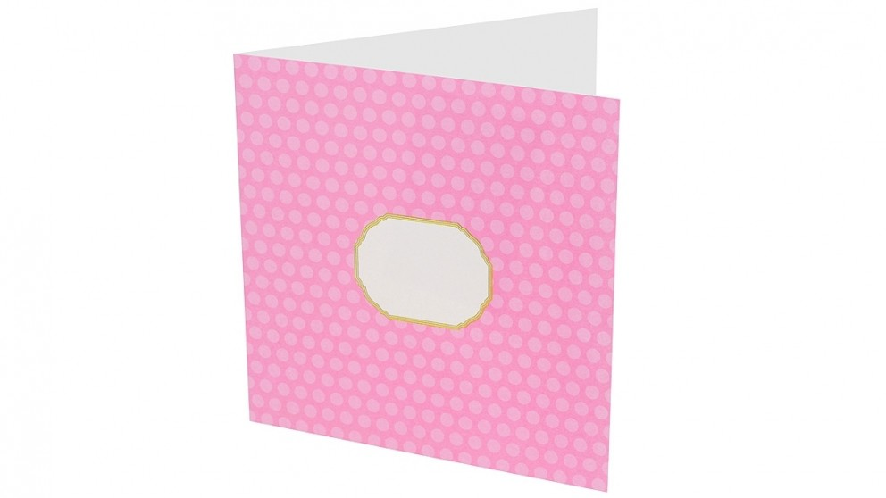 Instax Photo Card - Soft Pink Dots