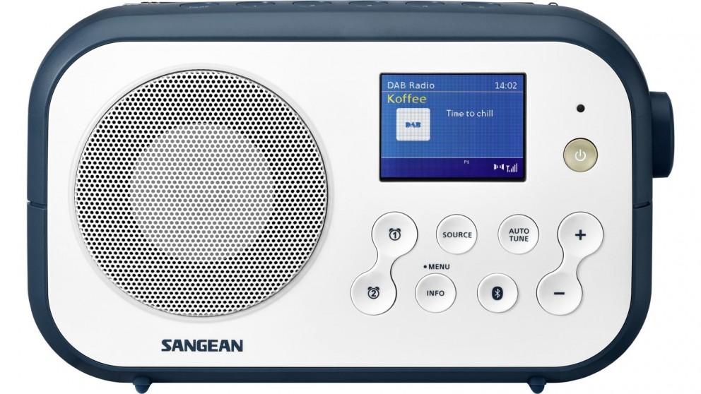 Sangeon DAB+/FM/Bluetooth Portable Radio - White/Ink Blue
